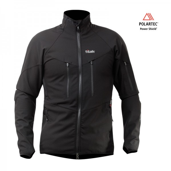 Polartec Power Shield Jacke Tilak Ogre black